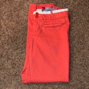 Anthropologie Cartonnier orange cropped trousers